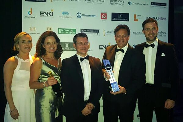 MacSweeney & Company received their prize of Connacht/Ulster Law Firm of the Year